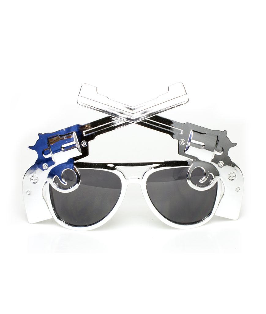 Pistol Sunglasses - Silver