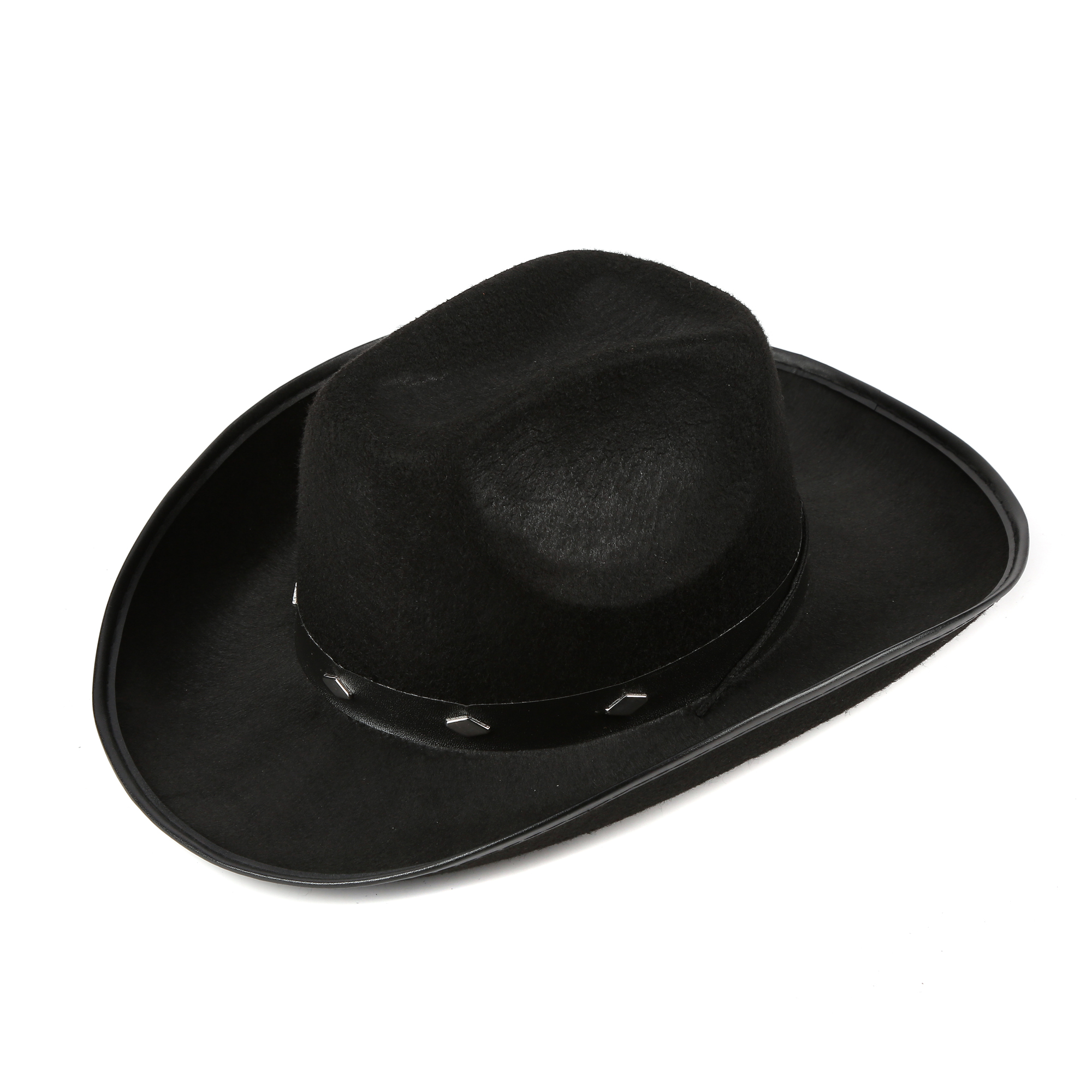 Black Felt Studded Cowboy Hat