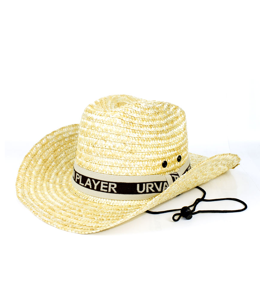 Straw Cowboy Hat with Strap