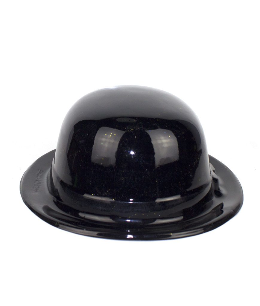 Fun Central AT825 Black Derby Hats - 12ct