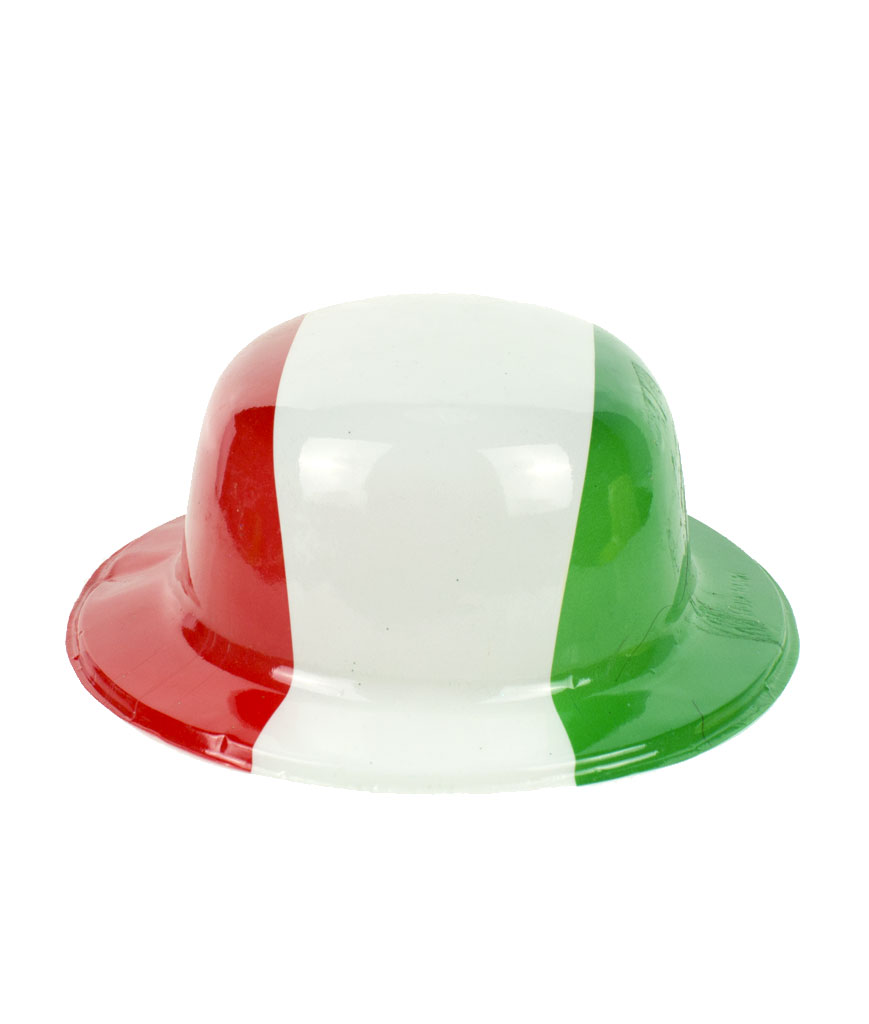 Mexican Flag Derby Hats - 12ct