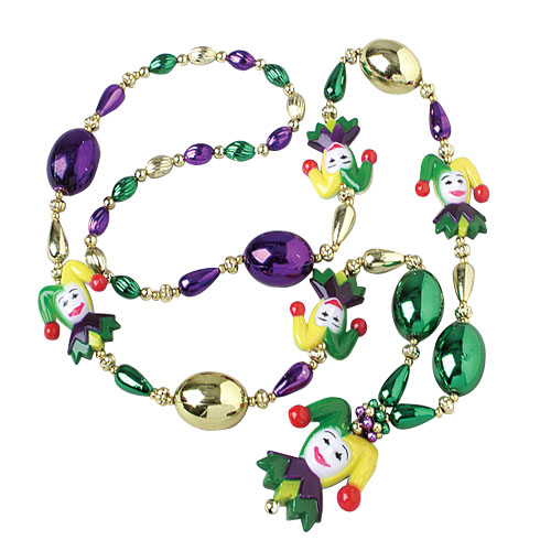 Mardi Gras Jester Necklace