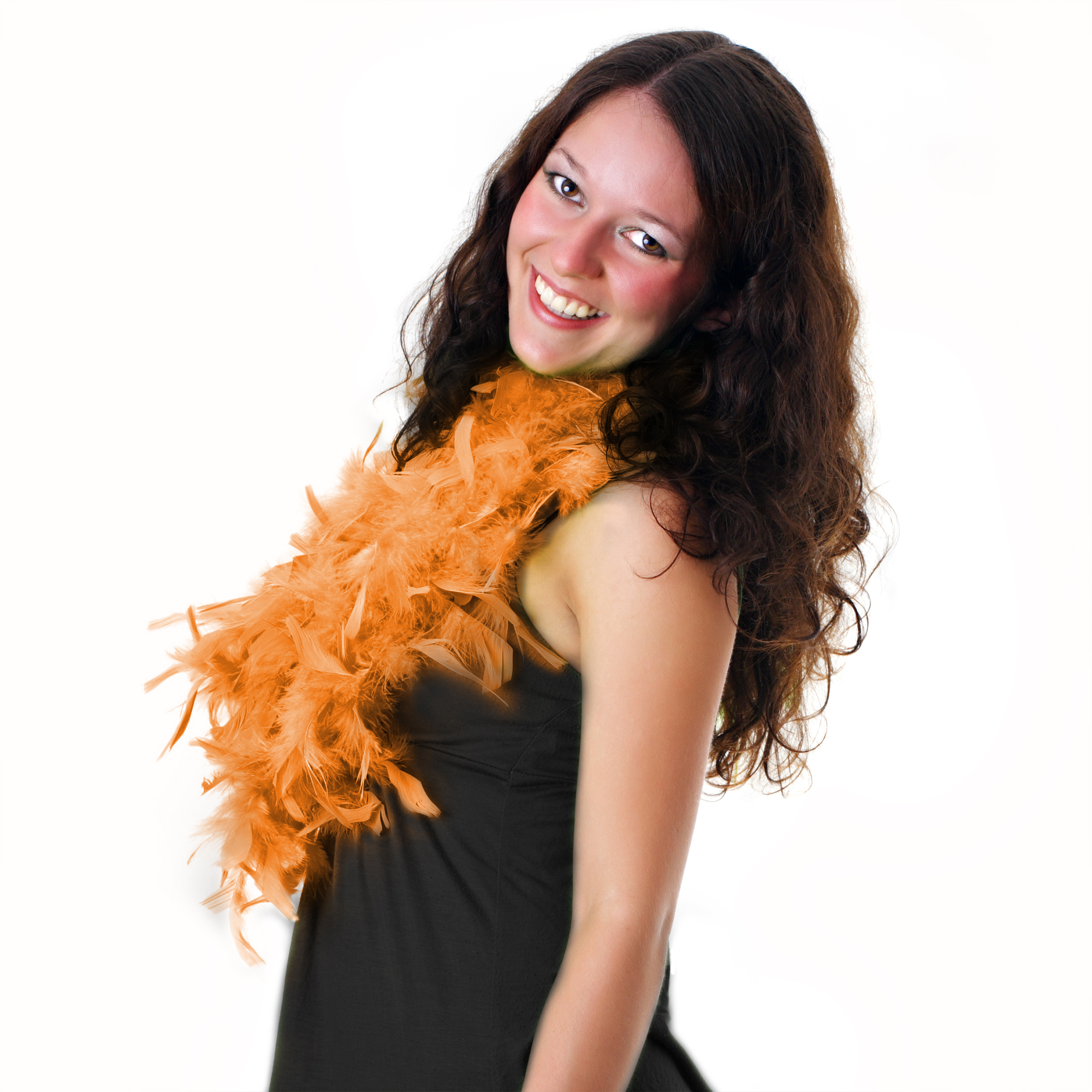 Feather BOA - 6ft Orange - 60g