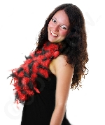 Feather Boa - 6ft Red and Black