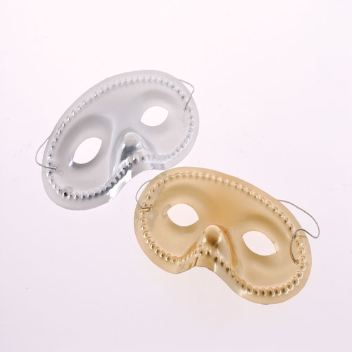 Economy Metallic Masks GoldSilver