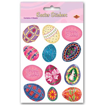Easter Egg Stickers 4 x 7