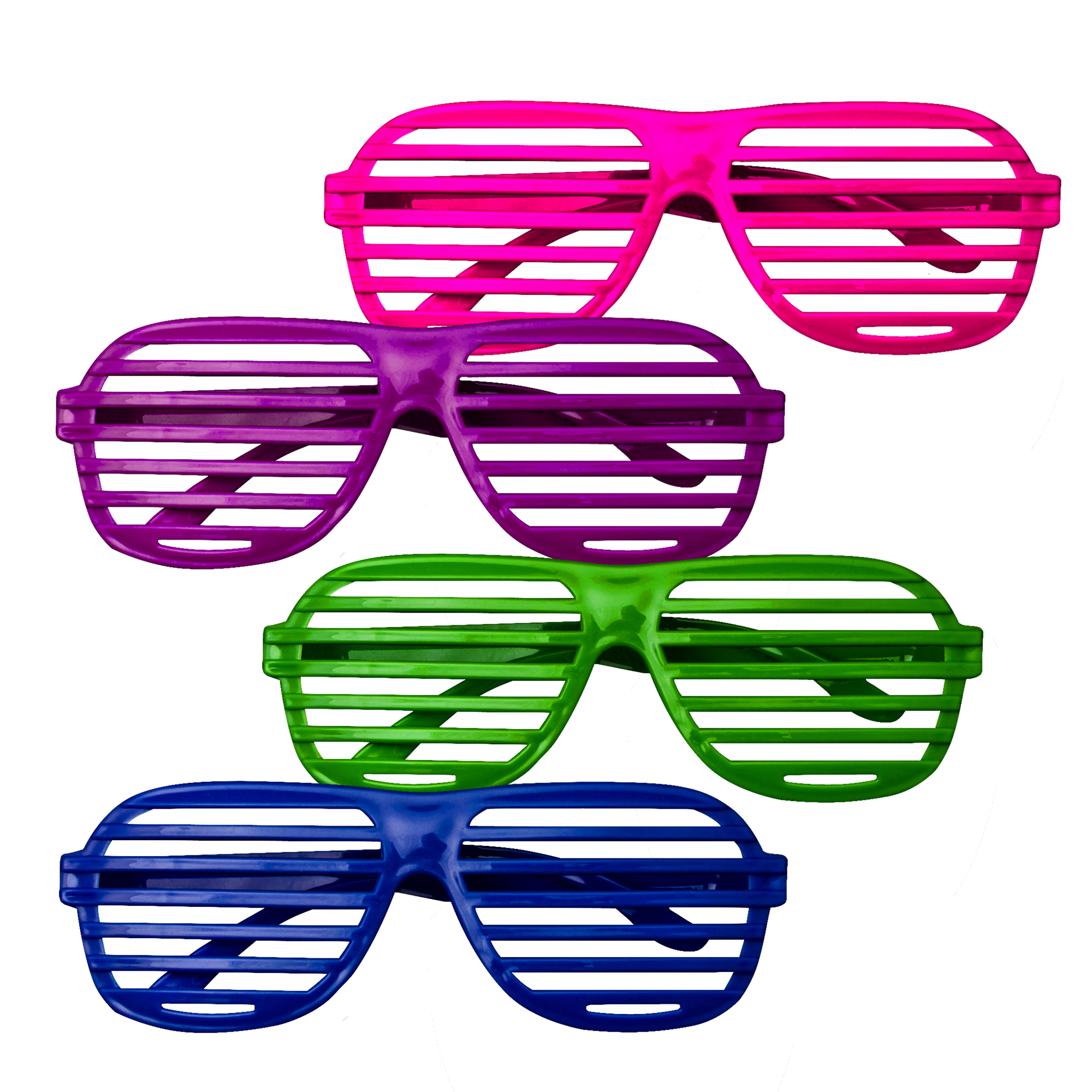 Plastic Slotted Shades - Assorted 12ct