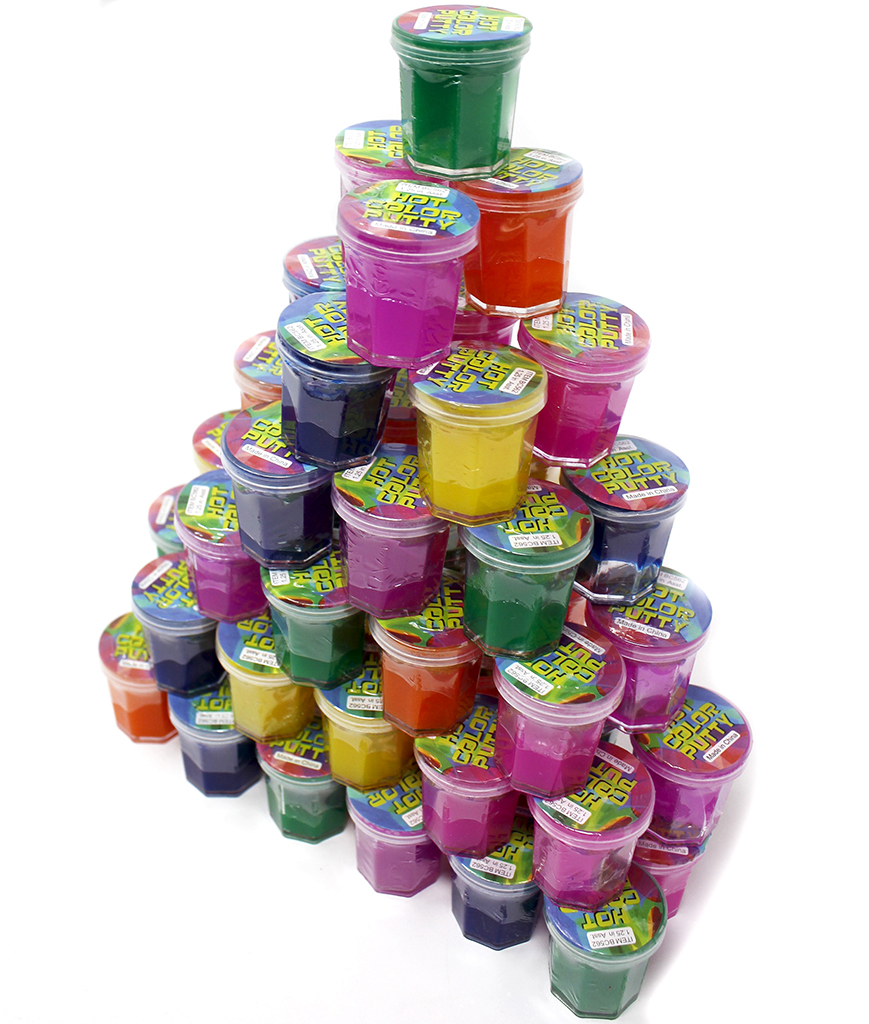 1.25 Inch Noise Putty Assorted - 48ct