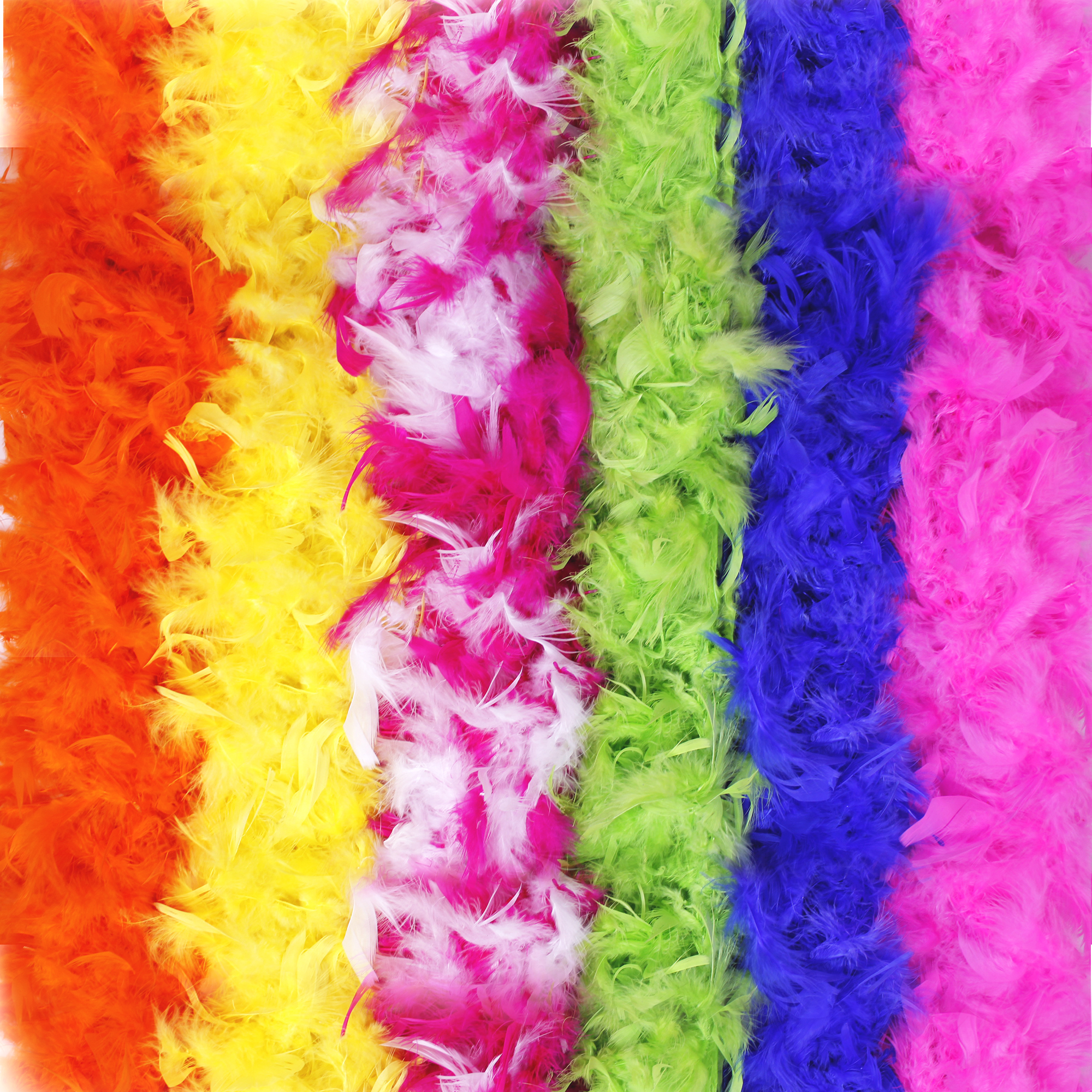 Colorful Feather BOA - 6ft Assorted - 360g