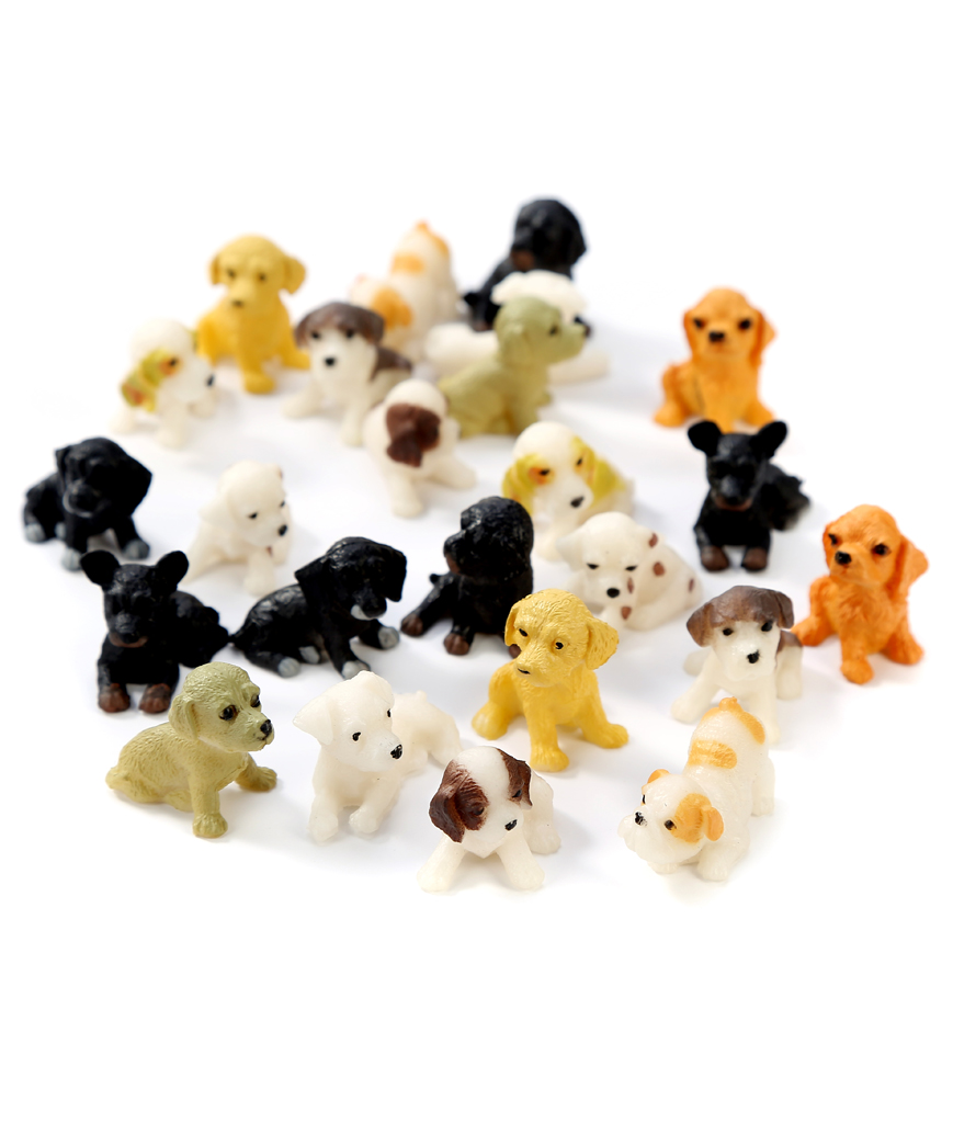 1 Inch Mini Dog 24ct - Assorted