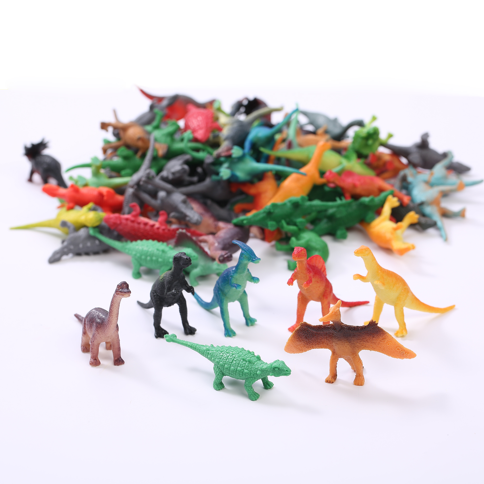 Mini Vinyl Dinosaurs - Assorted 72ct