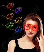Fun Central G709 Glow in the Dark Eye Glasses - Assorted - 6 Pack