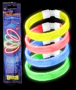 Fun Central X539 Glow in the Dark Retail Packaged Triple Wide Bracelet - Assorted