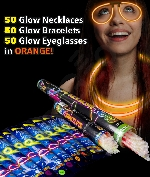 Fun Central AM732 Glow in the Dark Party Pack for 50 - Orange