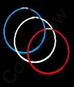 Fun Central B568 22 Inch Glow in the Dark Necklaces - Assorted Red-White-Blue