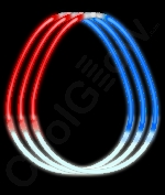 Fun Central J4 22 Inch Glow in the Dark Necklaces Red-White-Blue