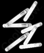 Fun Central U7 1.5 Inch Glow in the Dark Sticks - White