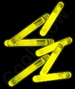 1.5 Inch Glow Sticks - Yellow