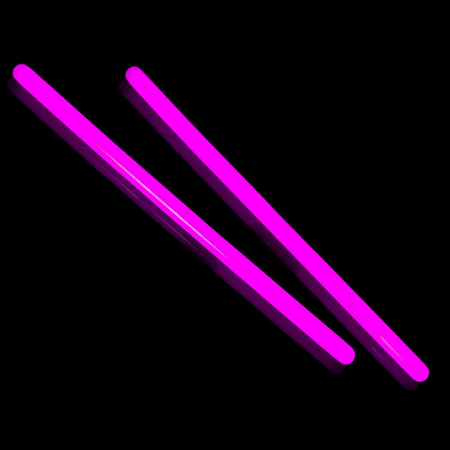 Fun Central E9 10 Inch Glow in the Dark Sticks - Pink