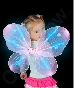 LED Butterfly Wings - Pink