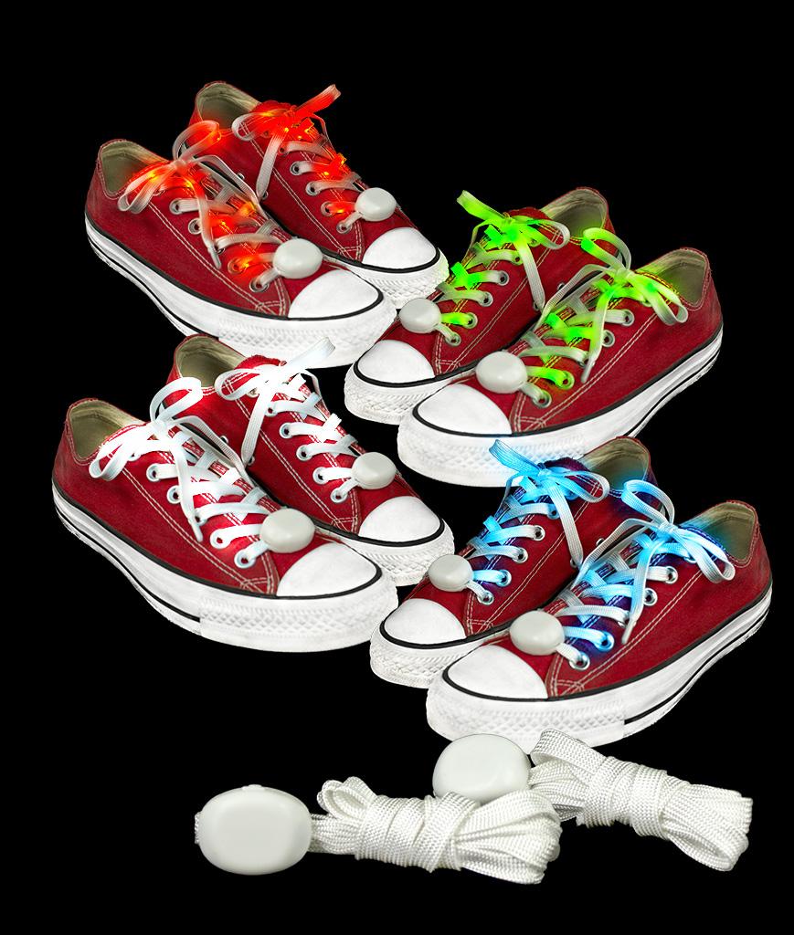 LED Cloth Shoe Laces- Assorted