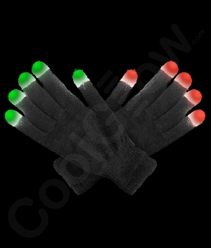 LED Gloves - Black