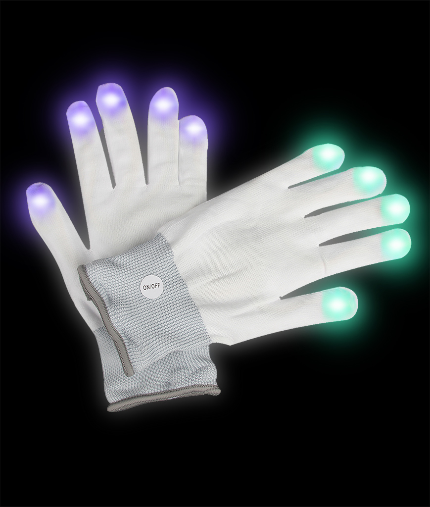 LED Rhinestone Gloves
