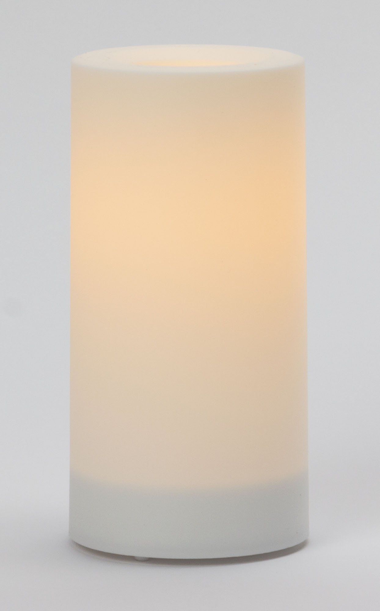 6x3 Inch Flameless Outdoor Pillar Candle with Timer - White