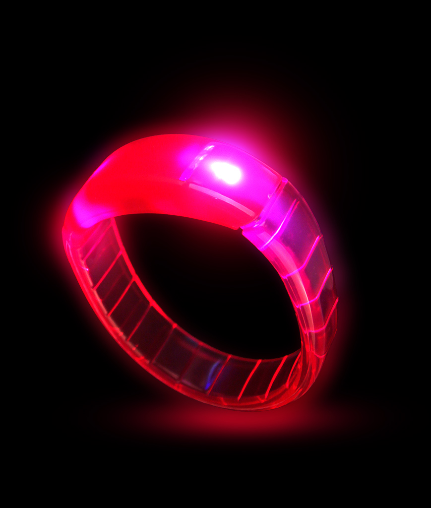 Fun Central I475 LED Light Up Bangle Bracelets - Red