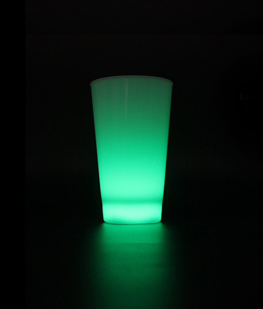 Glow LED Cup - 16oz Green