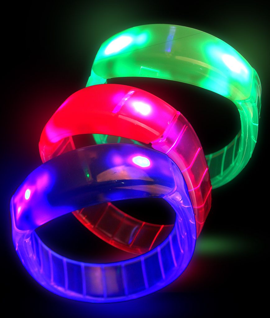 Fun Central I103 LED Light Up Bangle Bracelets - Assorted