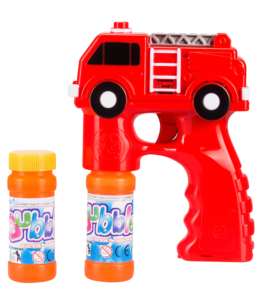 LED 5.5 Inch Bubble Gun - Fire Truck