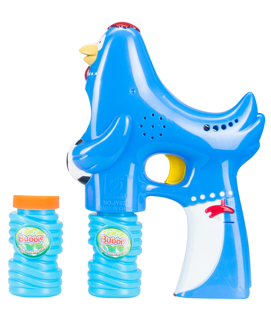 LED 5 Inch Bubble Gun - Rooster - Blue