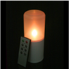 6 Inch Flameless Remote Control Outdoor Pillar Candle - Yellow