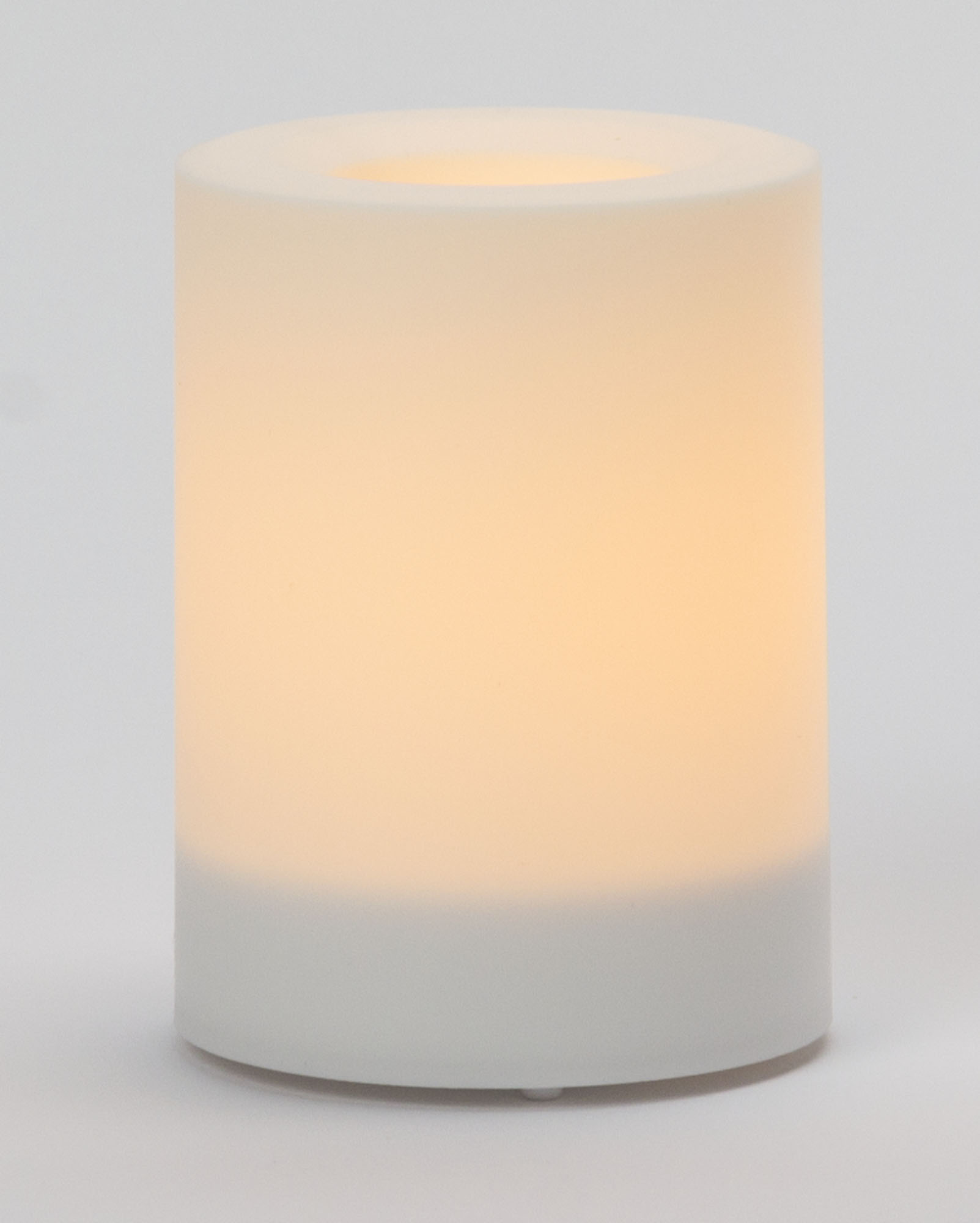 4x3 Inch Flameless Outdoor Pillar Candle with Timer - White