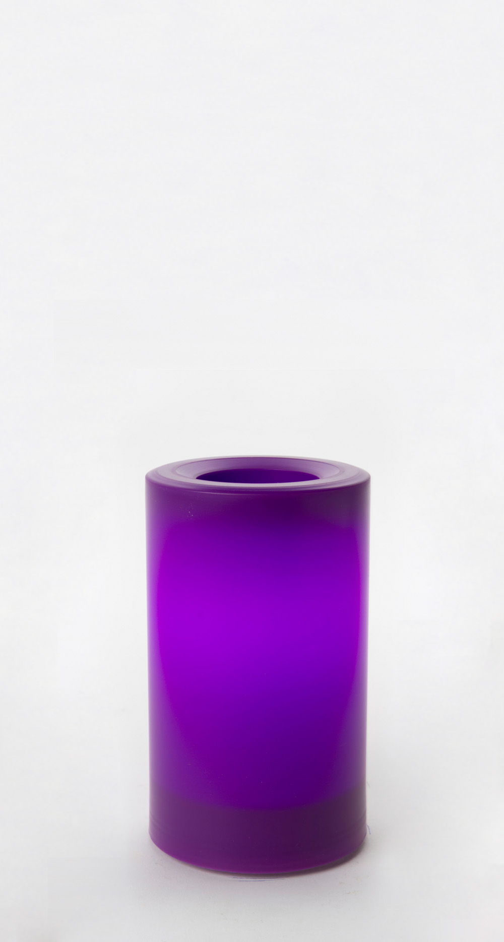 5 Inch Flameless Outdoor Pillar Candle with Timer - Purple