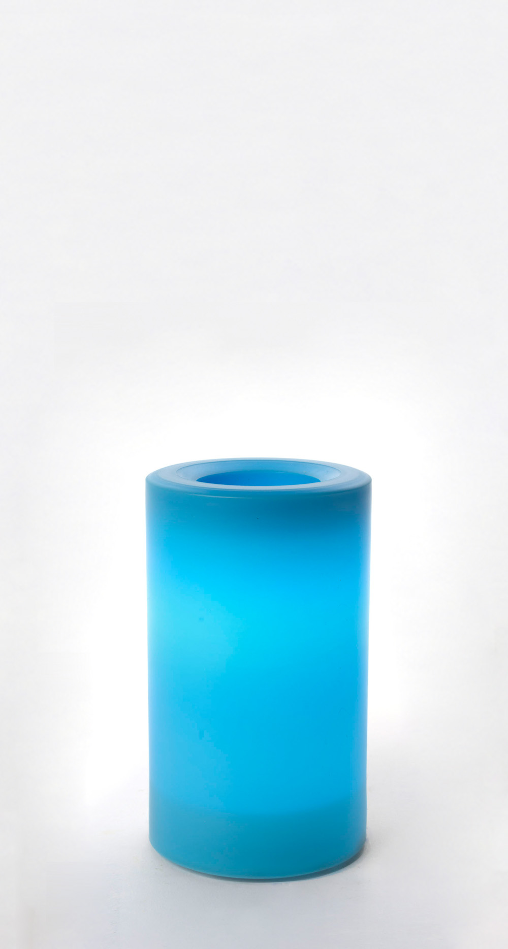 5 Inch Flameless Outdoor Pillar Candle with Timer - Blue
