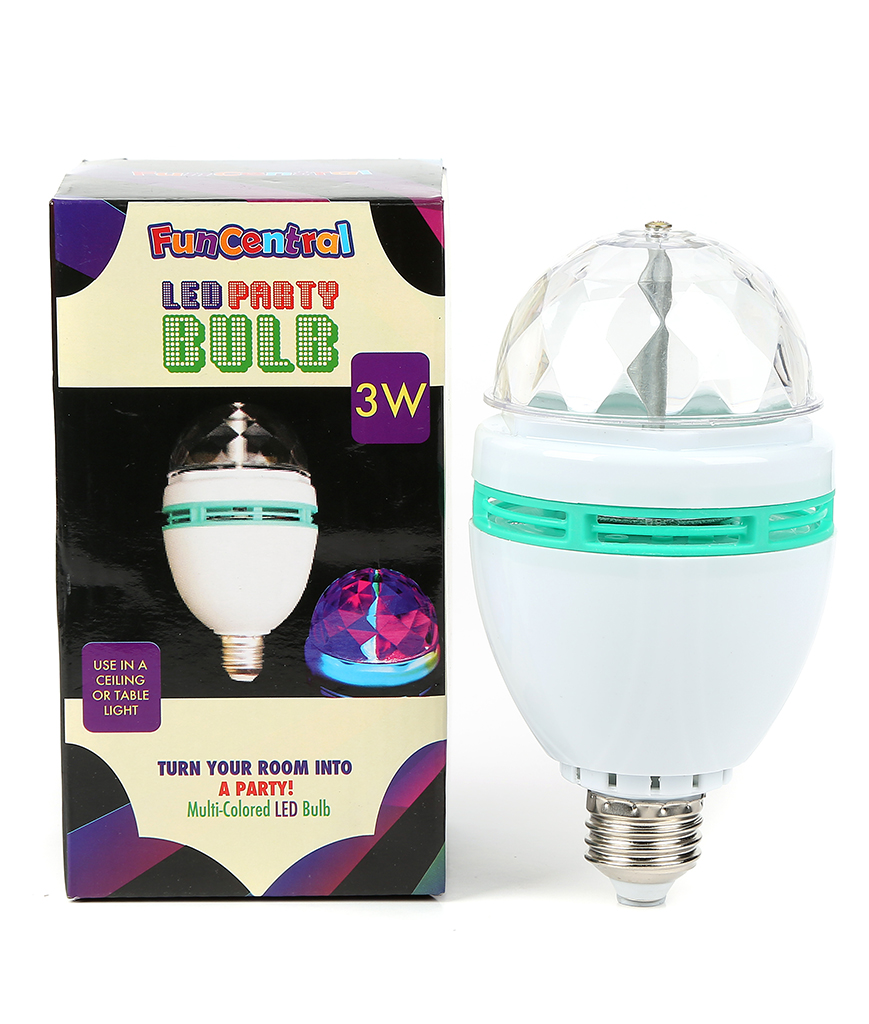Fun Central BC519 LED Light Up 3 Watt Disco Rotating Bulb
