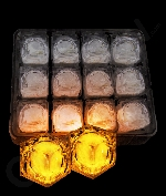 Fun Central AC967 LED Light Up Light Up Ice Cubes - Orange
