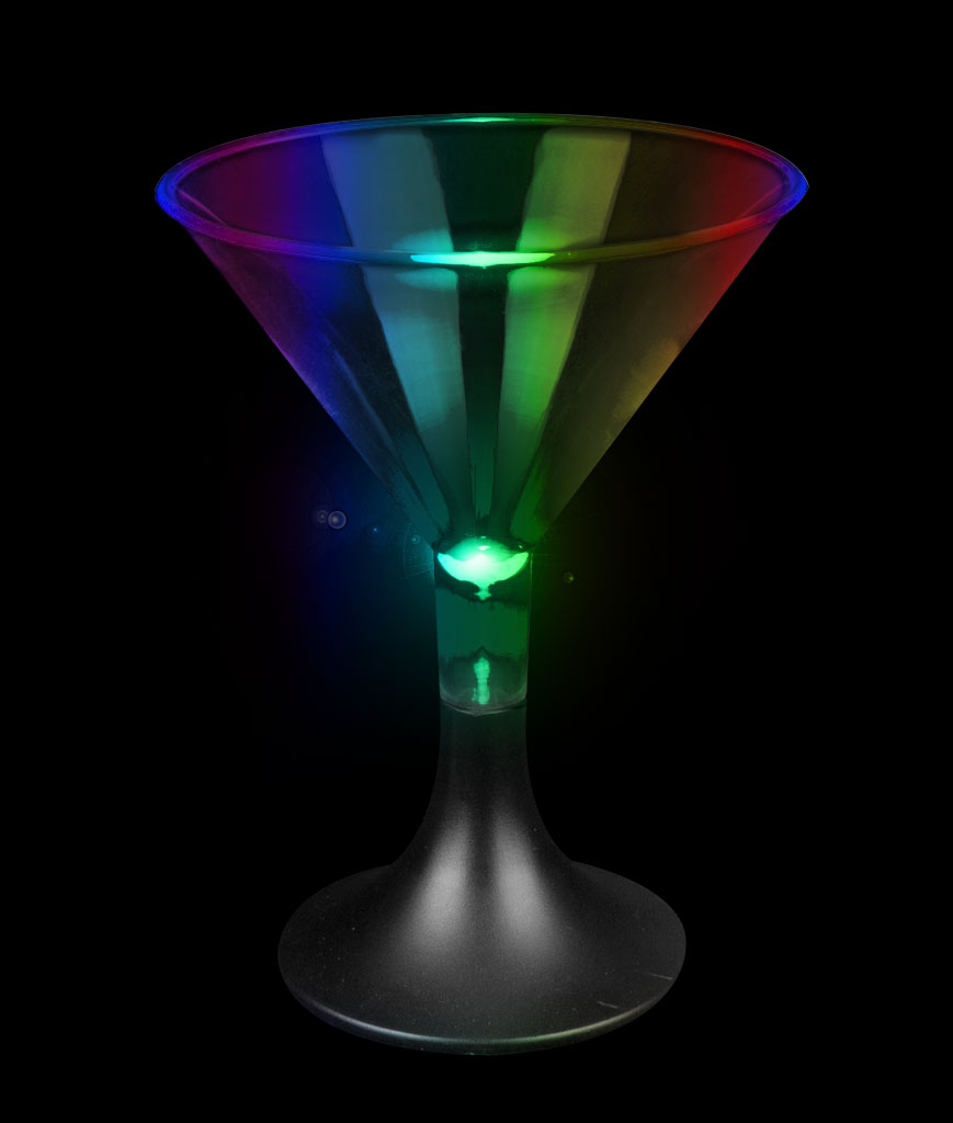 LED Mini Martini Glass