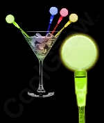 Fun Central O045 LED Light Up Circle Cocktail Stirrers - Assorted