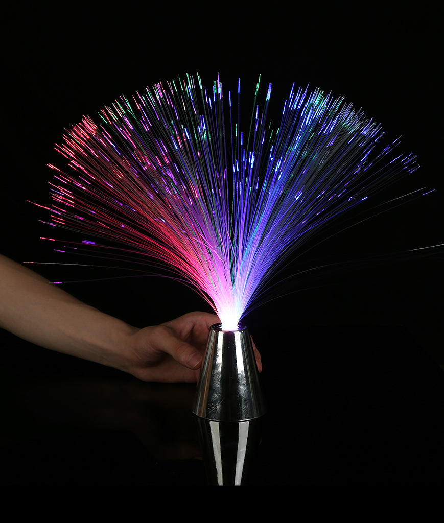 Fun Central M853 LED Light Up Fiber Optic Centerpiece - 13 Inch
