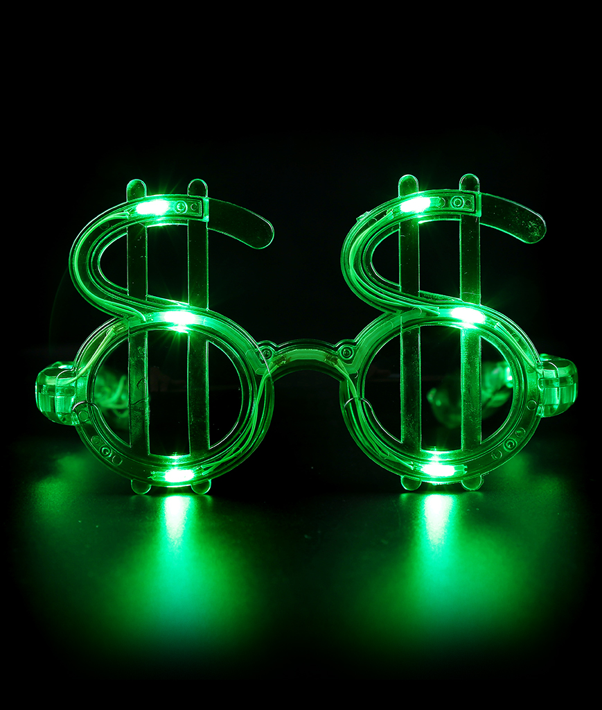 LED Green Dollar Shades
