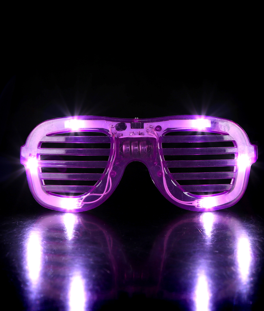 LED Slotted Shades - Purple