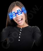 LED 2014 Eye Glasses - Blue