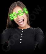 LED 2014 Eye Glasses - Green
