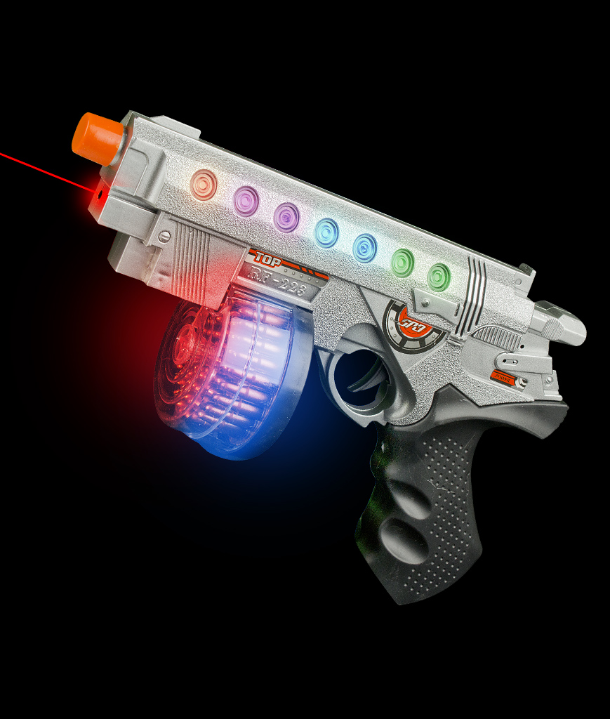Fun Central AT756 LED Light Up Laser Hand Gun