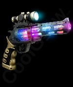 Fun Central AK041 LED Light Up Spinning Gun with Scope