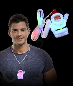 LED Flashing Cloth Lanyard - Santa