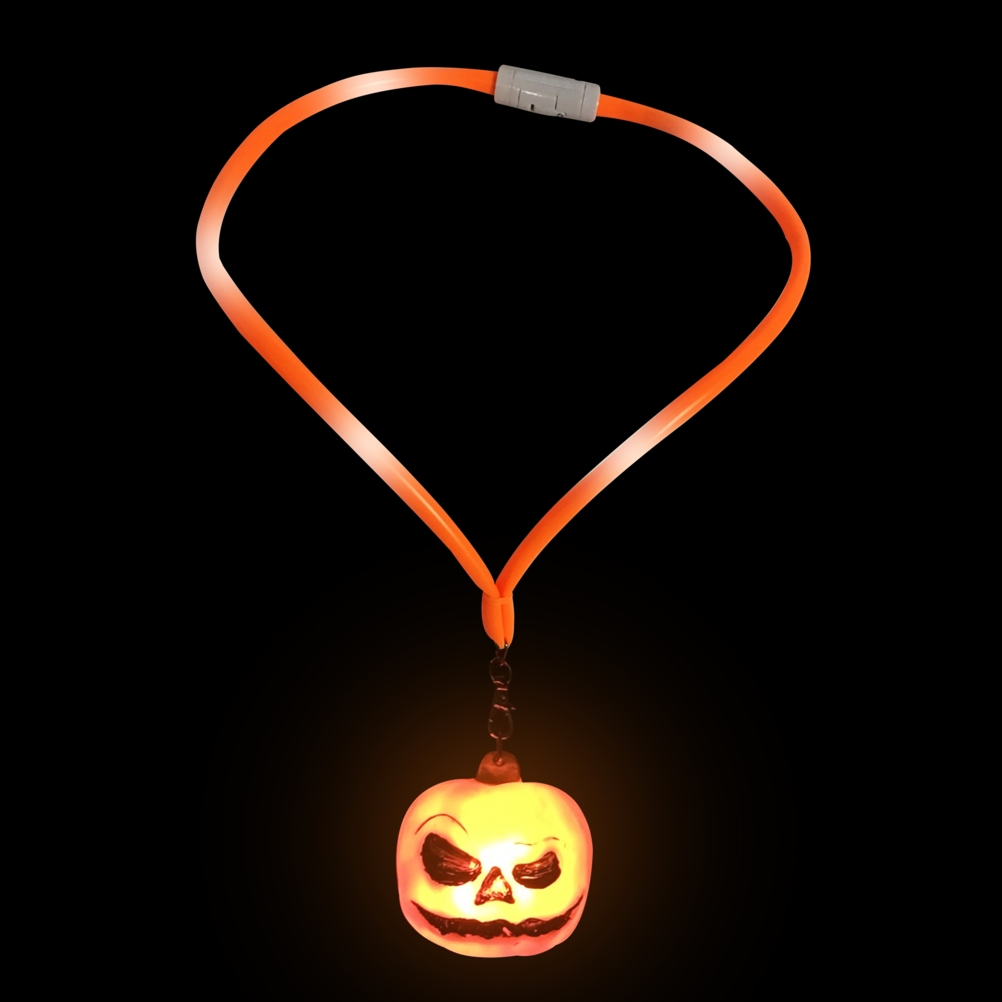 Fun Central O768 LED Light Up Flashing Lanyard - Pumpkin
